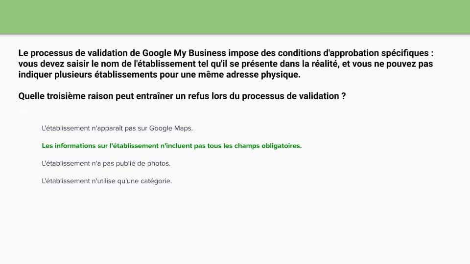 Certification relative aux mesures Google Ads