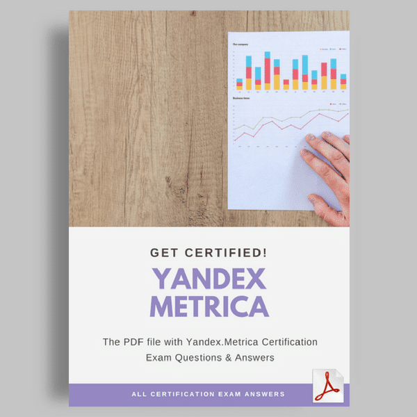 Yandex Metrica Certification Answers featured image