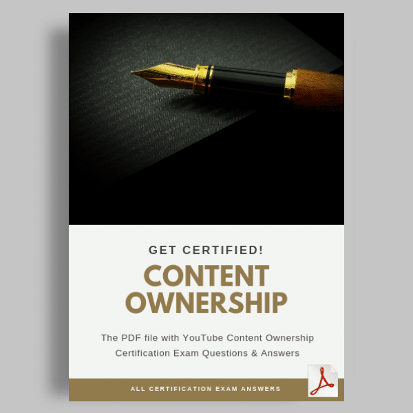 Youtube Content Ownership Certification Answers featured