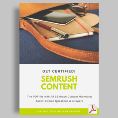 SEMrush Content Marketing Toolkit Exam Answers featured image