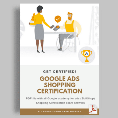 Google Ads Shopping Certification exam answers