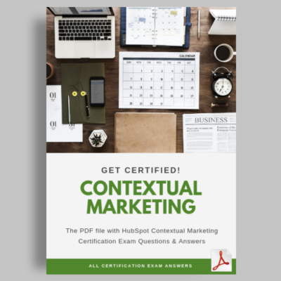 HubSpot Contextual Marketing Certification Answers featured image