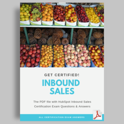 HubSpot Inbound Sales Certification Exam answers featured image