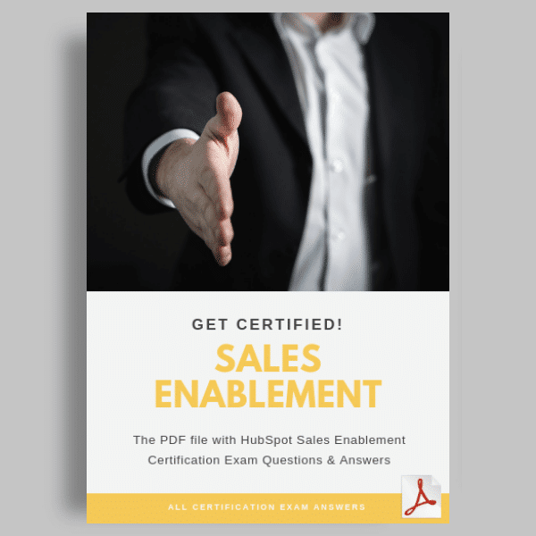 HubSpot Sales Enablement Test Answers featured image sales enablement certification exam