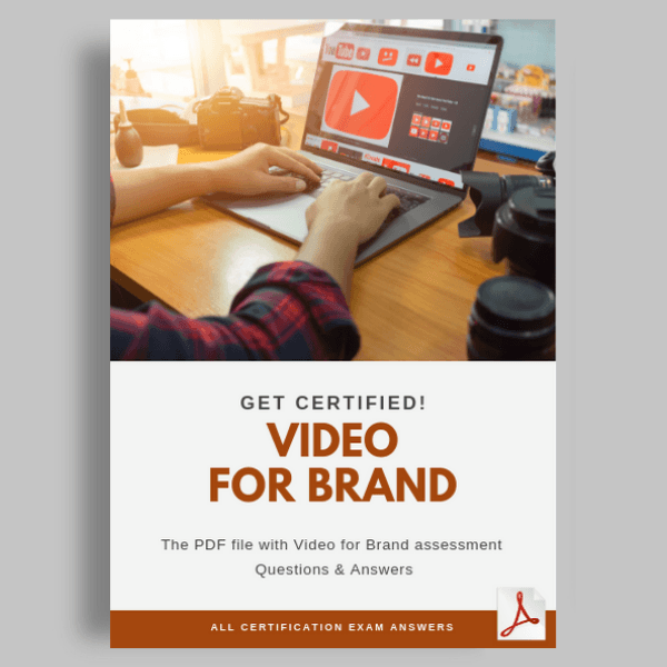 Video for brand assessment answers