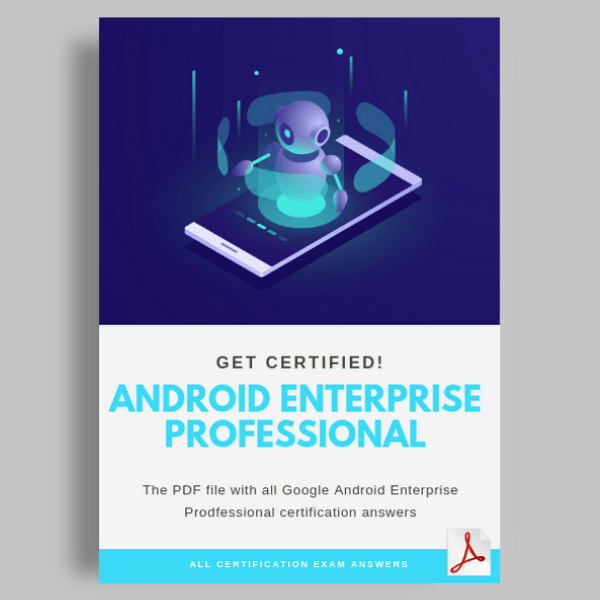 Android Enterprise Professional Certification cover