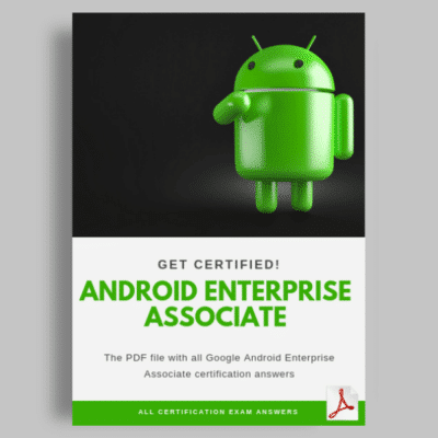 Android Enterprise Associate Certification answers cover