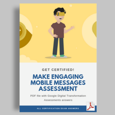 Make engaging mobile messages assessment cover