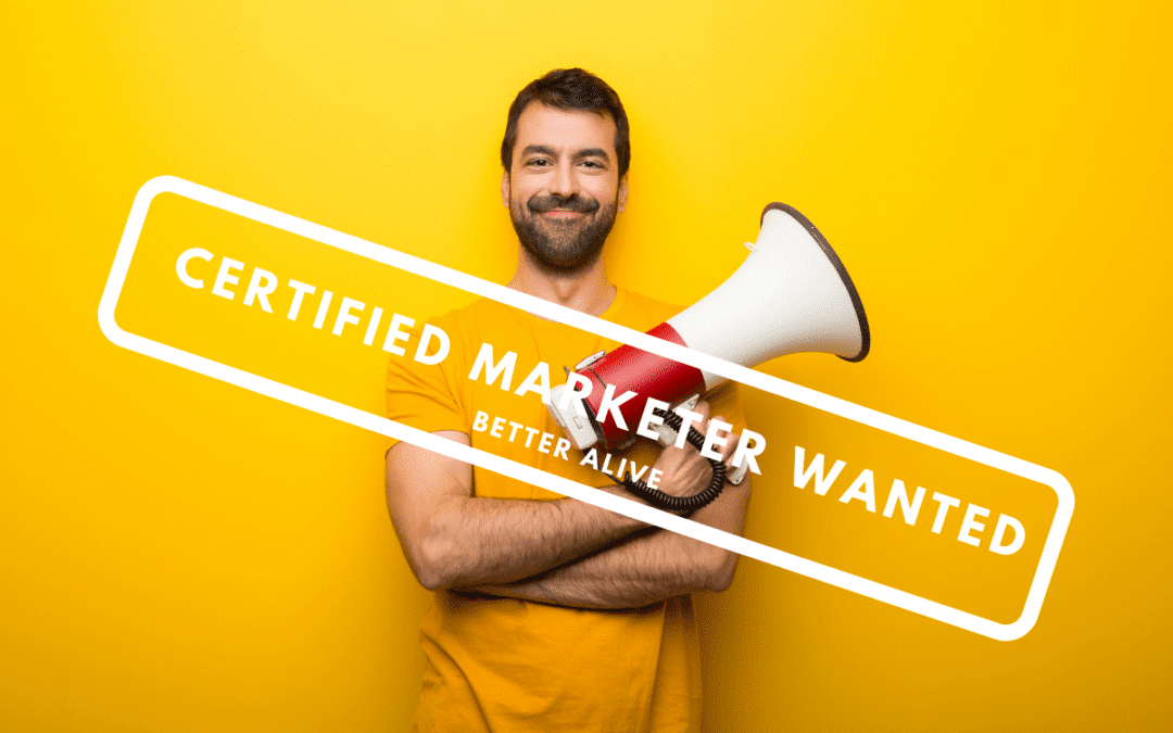 featured image man marketer - what are the best free certifications for marketers