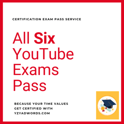 YouTube Certification Exams Pass service
