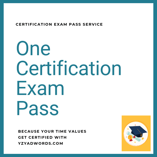 One Certification Exam Pass Service