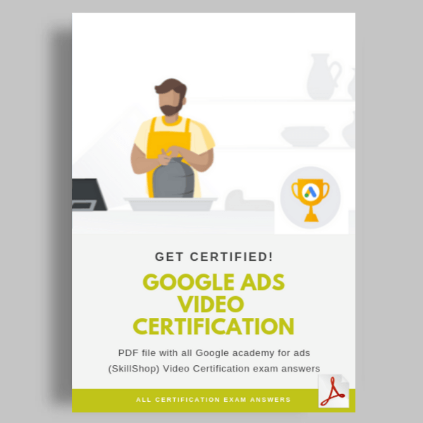 Google Ads Video Certification Exam Questions