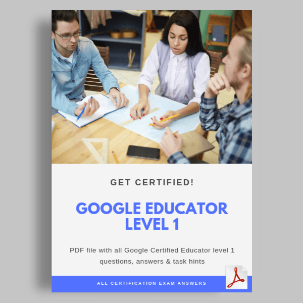 Google Educator Level 1 Certification answers