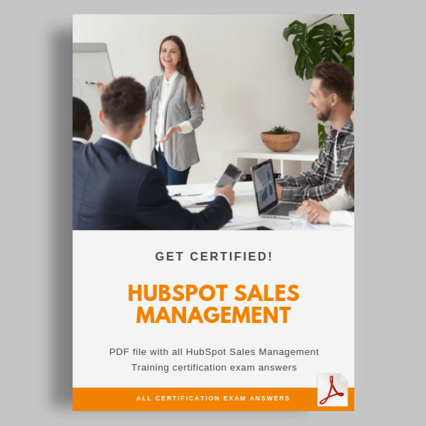 HubSpot Sales Management Training Exam answers