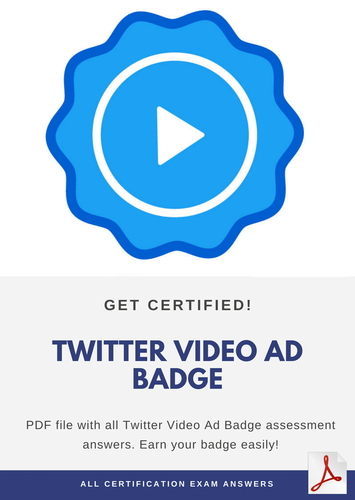 Twitter Video Ad Badge Assessment Answers