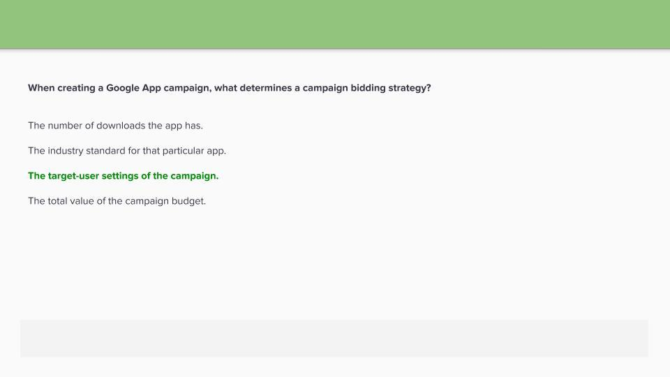Google Ads Apps Certification Exam Answers