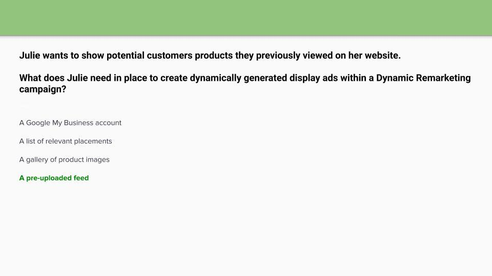 Google Display Certification Answers