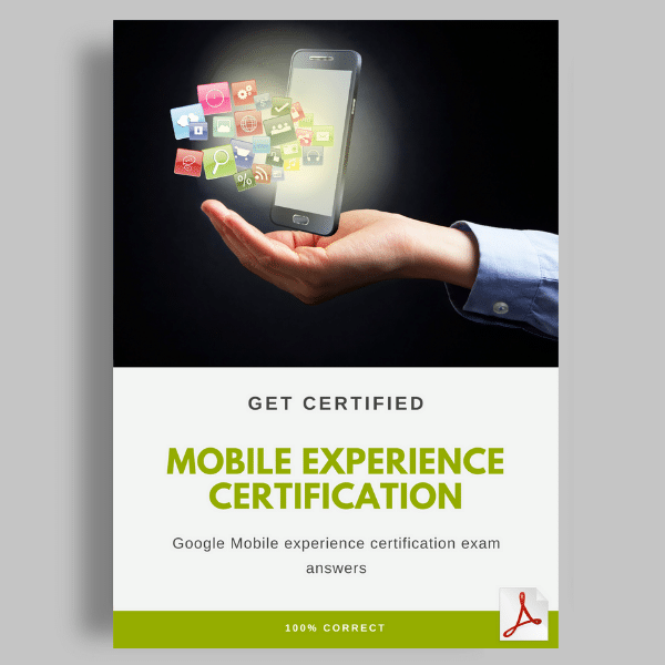 Mobile Experience Certification Exam Answers